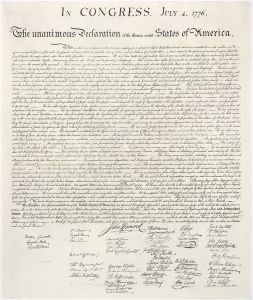 The Declaration Of Independence, Photo Credit: Wikipedia